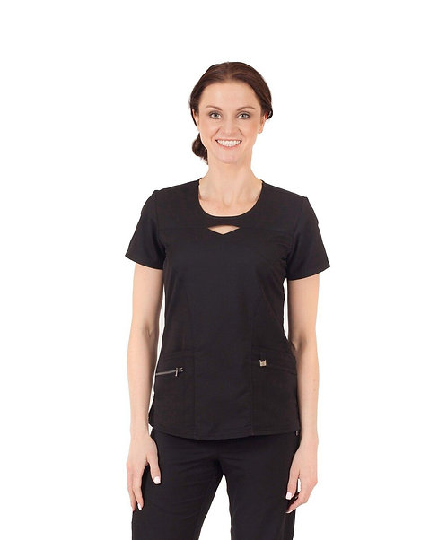 Life Threads Ergo -Ladies Key Hole Top- Black