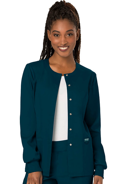 Cherokee - Workwear Revolution -Modern Classic Warmup Jacket - Caribbean