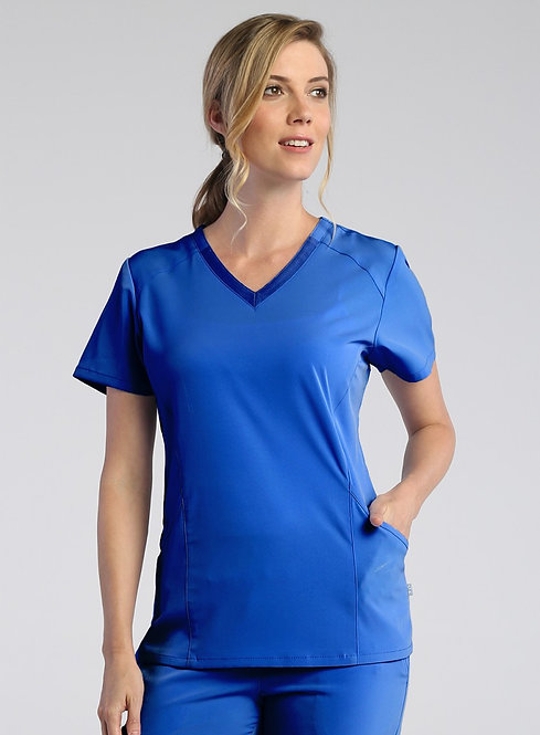 Maven - PureSoft - Ladies Modern V-Neck Top Royal