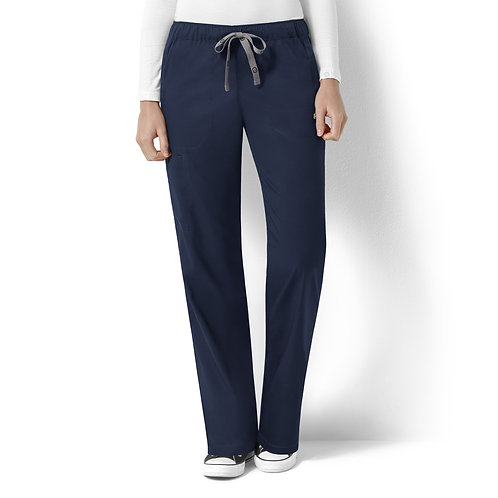 Logan Women's Elastic Waist Pant  5119-Navy