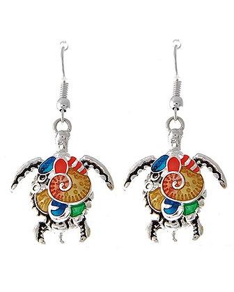 Painted Turtle Earrings