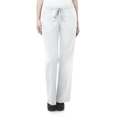 Women's Straight Leg Cargo Pant - White