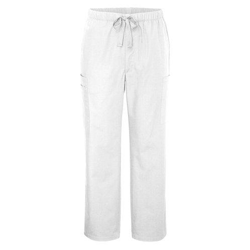 ADAR UNIVERSAL - MEN'S 6-POCKET COMFORT TAPERED LEG PANTS - White