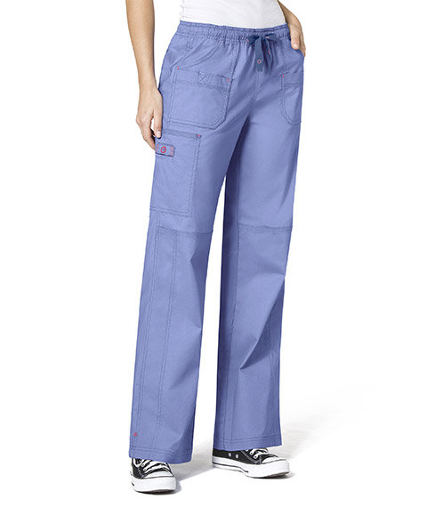 WonderFlex Faith  Women's Boot-cut  Cargo Pants Ceil Blue