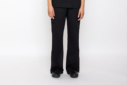 Contego Women's Stretch Cargo Scrub Pant - Style No.1220 Black