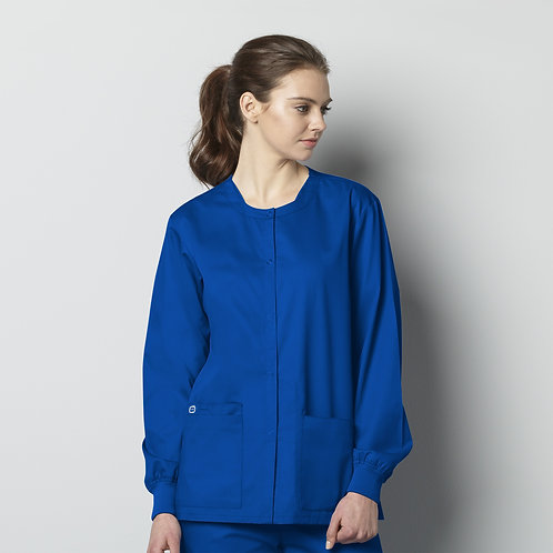 Unisex Snap Front Jacket 800 - Royal Blue