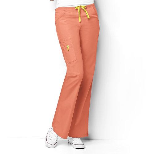 Romeo -6Pkt Flare Leg Women's Pant Orange