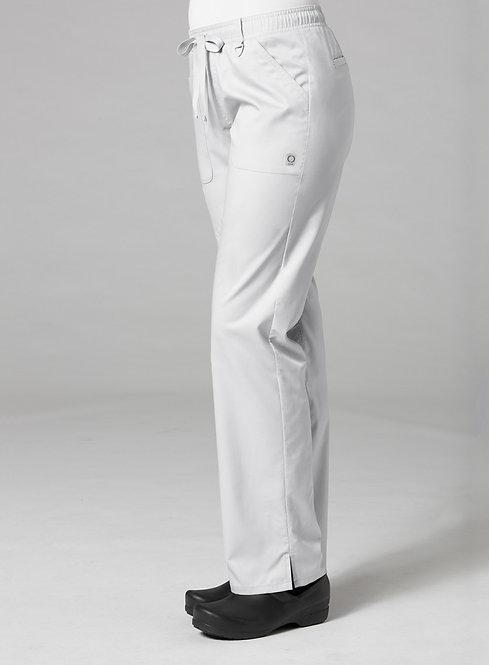 7308 [EON]  Full Elastic Cargo Pant White
