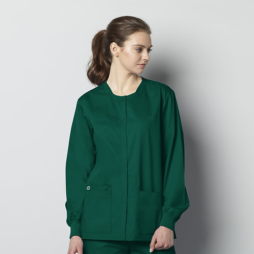 Unisex Snap Front Jacket 800 - Hunter Green