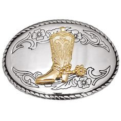 Buckle - Silver with Gold Boot