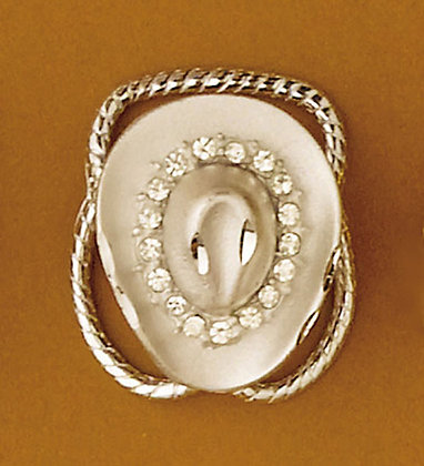 Scarf Ring - Silver Hat