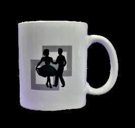 White Square Dance Mug