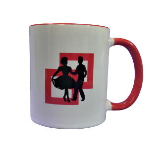 Red Square Dance Mug
