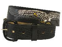 Black Leather Belt - #225