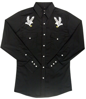1232 Black with Embroidered White Eagle