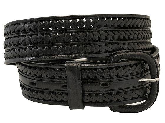 Black Leather Belt - #214