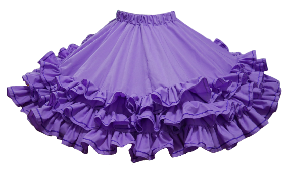 ----- Made to Order -----  Style #1025 Triple Frill with Ribbon Trim