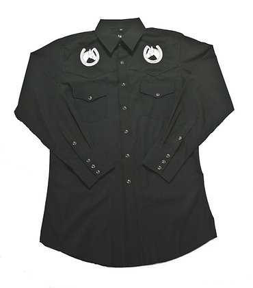1220 Black with Embroidered Horseshoe