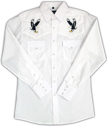 1231 White with Embroidered Eagle
