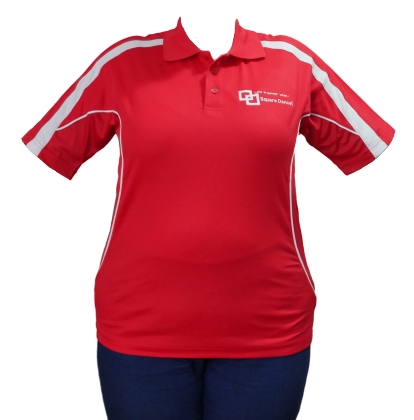 Red/White Polo - Embroidered Logo