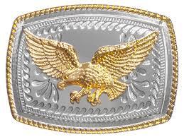 Buckle - Golden Eagle on Silver - BU1030