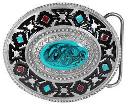 Buckle - Southwest Blue Stone - G257