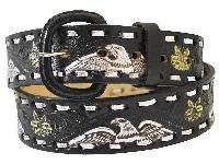 Black Leather Belt - #228