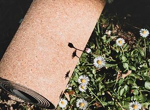 Cork Yoga mat and flowers .jpg