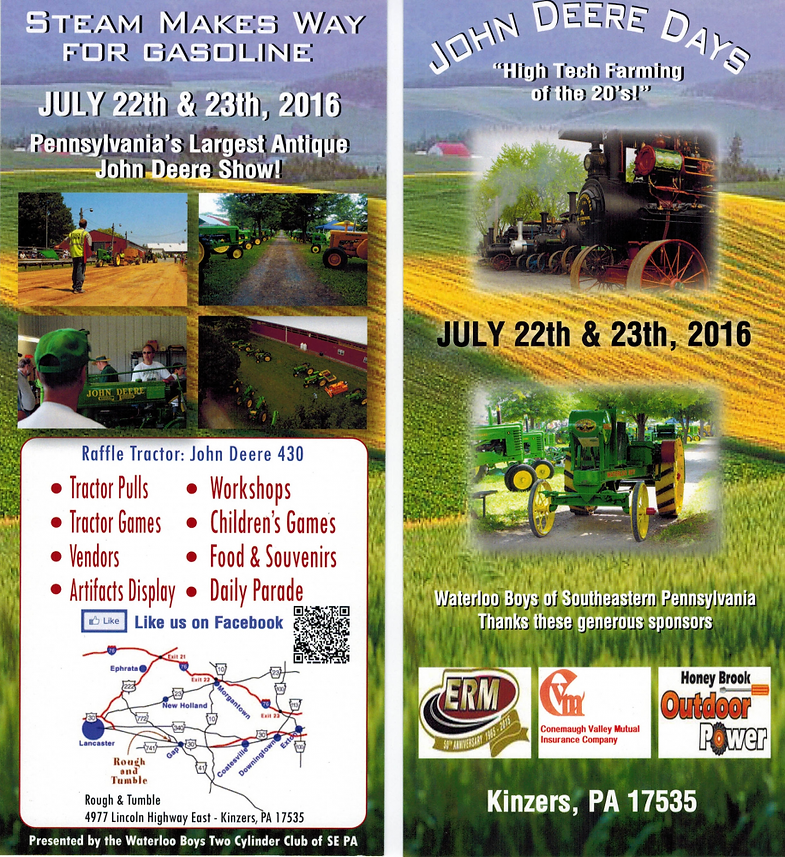 Show Details for John Deere Days at Rough and Tumble