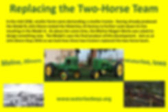 Replacing the two-horse team with John Deere Model B