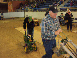 Helping at Farm Show