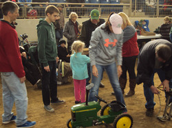 Kids Pedal Tractor Pull Action