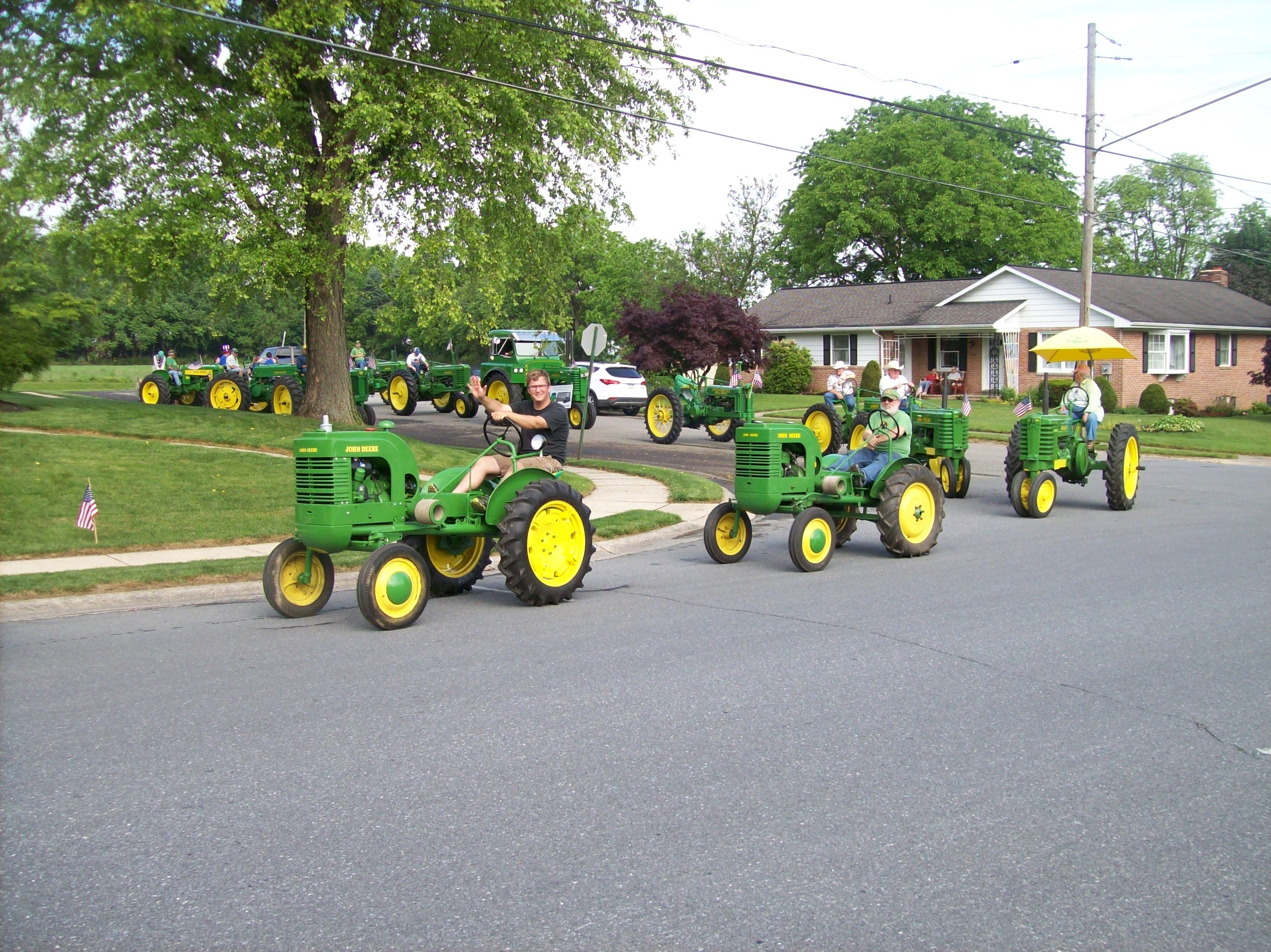 Antique John Deere Lineup