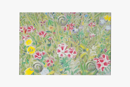 Original Pastel Chatsworth Wild Flowers