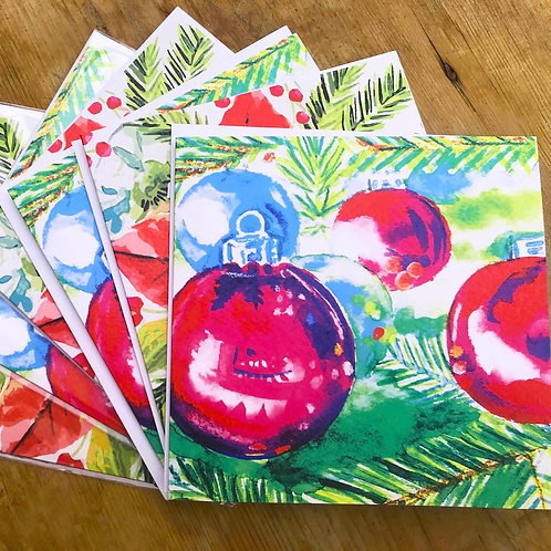 Pack of 6 illustrated Christmas Cards