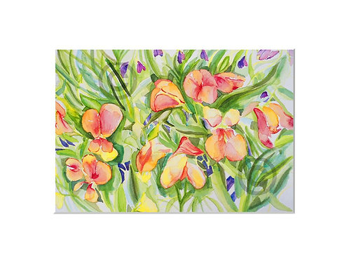 Yellow Sweetpea to fit A4 frame with mount