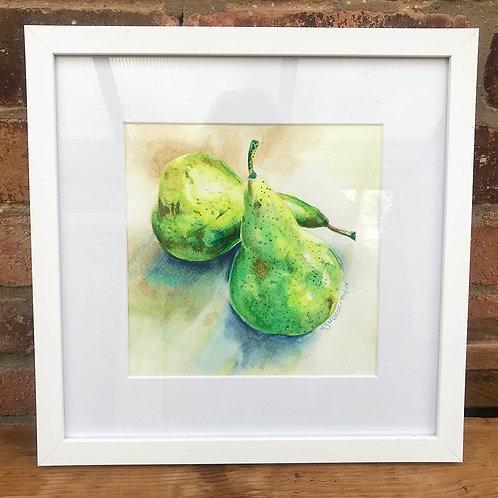 Original Watercolour Pears