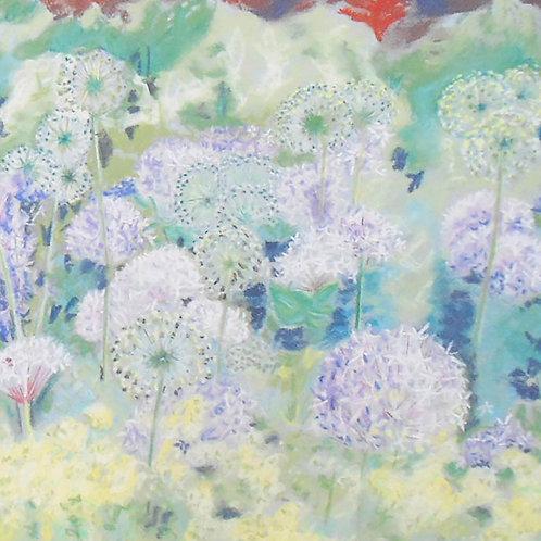 Pastel Alliums card