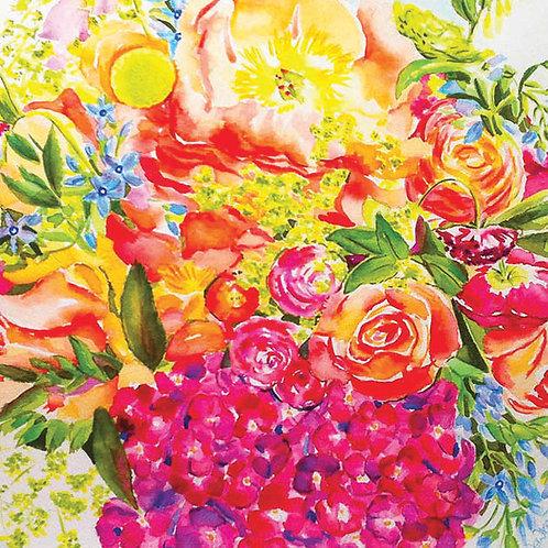 Watercolour Spring Bouquet card 15mm x 15mm