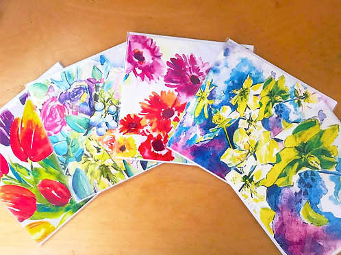 Selection of 5 cards 15mm x 15mm