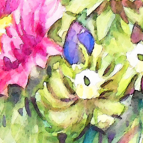 Watercolour Chrysanthemum Card