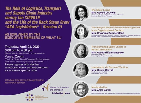 "WiLAT SL -Webinar Series ""The Role of Logistics, Transport and Supply Chain Industry during Covid 19"