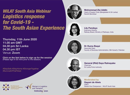 "Webinar on ""Logistics Response for Covid-19, The South Asian Experience"" June 11, 2020"