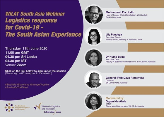 """Webinar on """"Logistics Response for Covid-19, The South Asian Experience"""" June 11, 2020"""