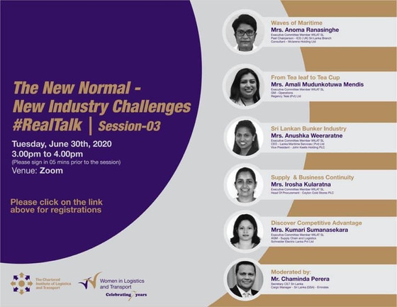 """WiLAT SL -Webinar Series """"The Role of Logistics, Transport and Supply Chain Industry during Covid 19"""
