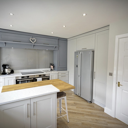 Bespoke Blue & Light Grey Kitchen