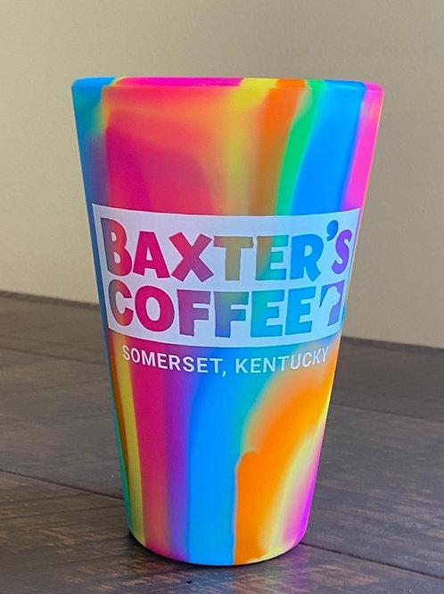 Baxter's Coffee 16oz Sili-Pint, Rainbow