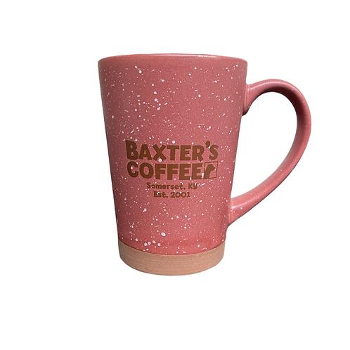 Baxter's Desert Ceramic Coffee Mug, vintage red