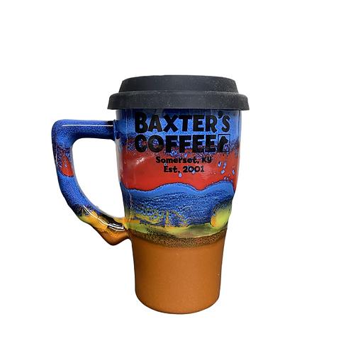 Moutain Views Azul Pottery Travel Mug