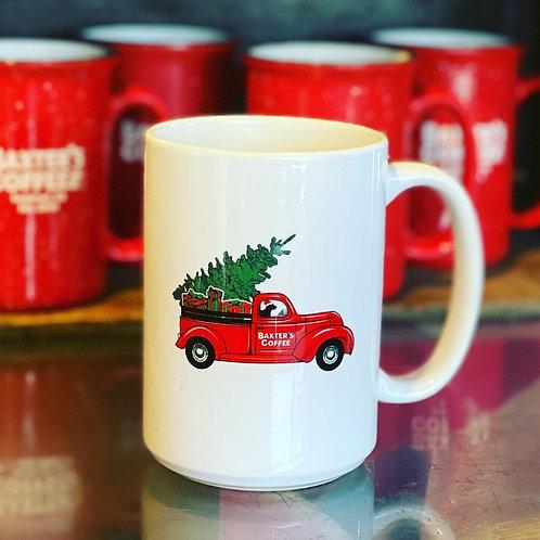 Baxter's Christmas Truck Mug